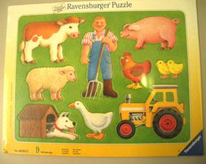 写真:パネルパズル 農家のおじさん
