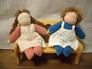 写真:ヴァルドルフ抱き人形(大)キット