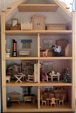 写真:人形の部屋セット壁紙付(組立式)