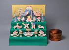 サムネイル:小黒三郎 円武者三段飾り 特製垂幕(富士)