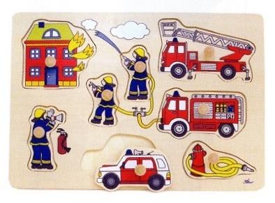写真:ペグパズル 消防隊