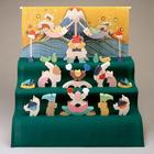 サムネイル:小黒三郎 楕円武者三段飾り(特製垂幕・富士)