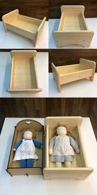サムネイル:白木のドールベッド